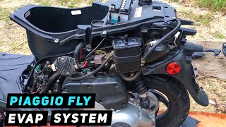 piaggio fly how to remove evap system