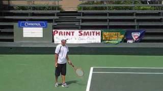 Brian Battistone's Unique Racquet and Serve (Hi-Q) thumbnail