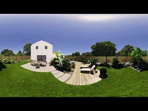 Immergez Vous Dans La Vidéo 360° D'un Jardin Tropical.