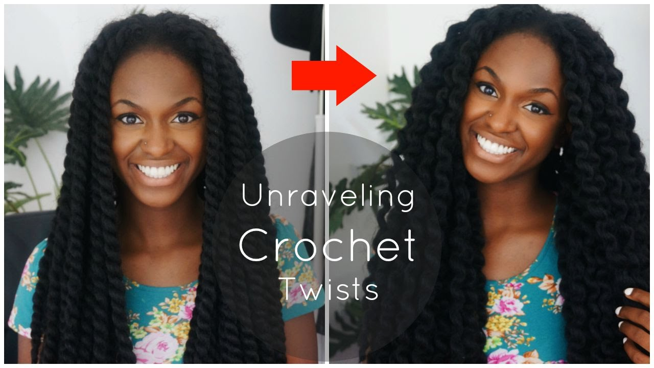 Crochet Hair Untwisted : Unraveling My Crochet Havana Twists - YouTube