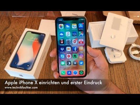 Apple iPhone X einrichten und erster Eindruck
