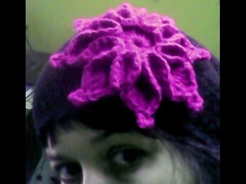 Вязание цветка на шапку крючком