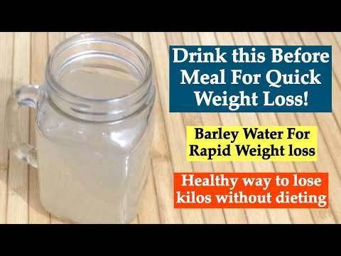 Barley Water Recipe   How to make Healthy Barley Drink for Weight Loss