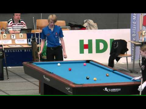 Tobias Bongers vs. Ricardo  Gutjahr DJM 2013 Pool-Billard 9-Ball m-U19