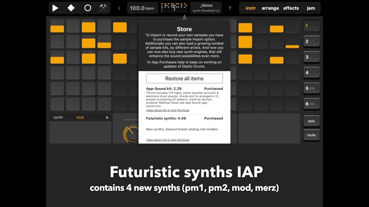 Elastic Drums 2 1 Released: 4 New Futuristic Synths, Master EQ And
