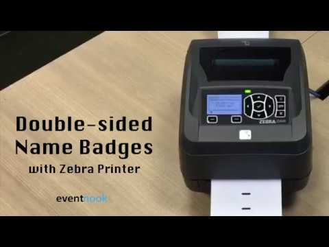 Onsite Checkin Instant Badge Printing With Zebra YouTube - Name badge printer