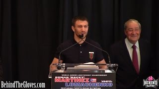 Roman Martinez vs Vasyl Lomachenko, Felix Verdejo PRESS CONFERENCE HIGHLIGHTS