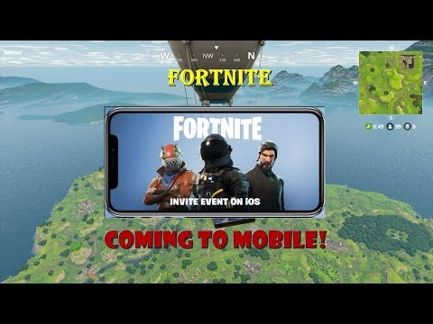 FORTNITE Coming to MOBILE ios/ipad | FortniteBattle Royale LIVESTREAM | ROAD TO 500 SUBS