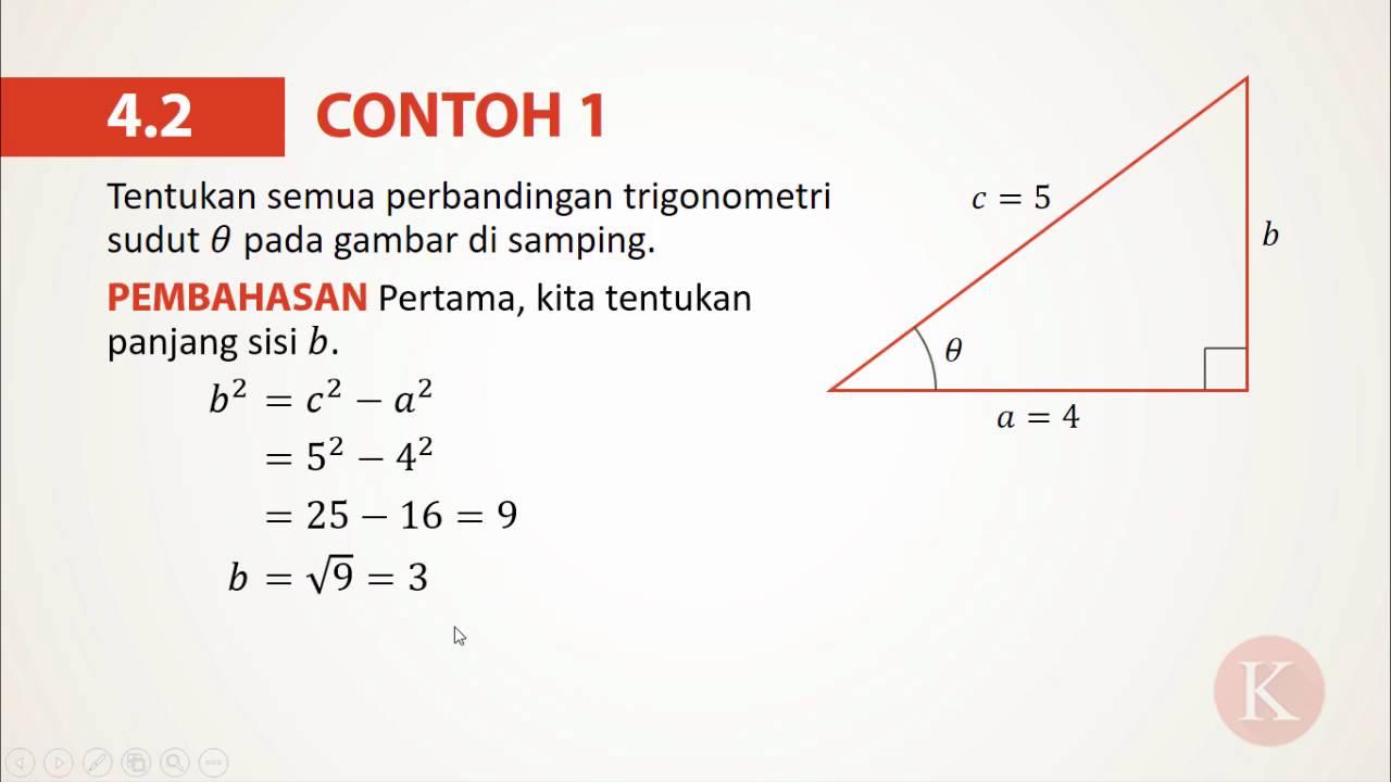 4 2 Contoh 1 Menentukan Perbandingan Trigonometri Youtube