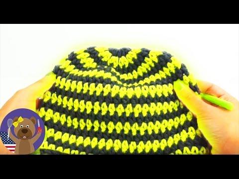 How to crochet a winter cap Tutorial - crochet hat for beginners ...