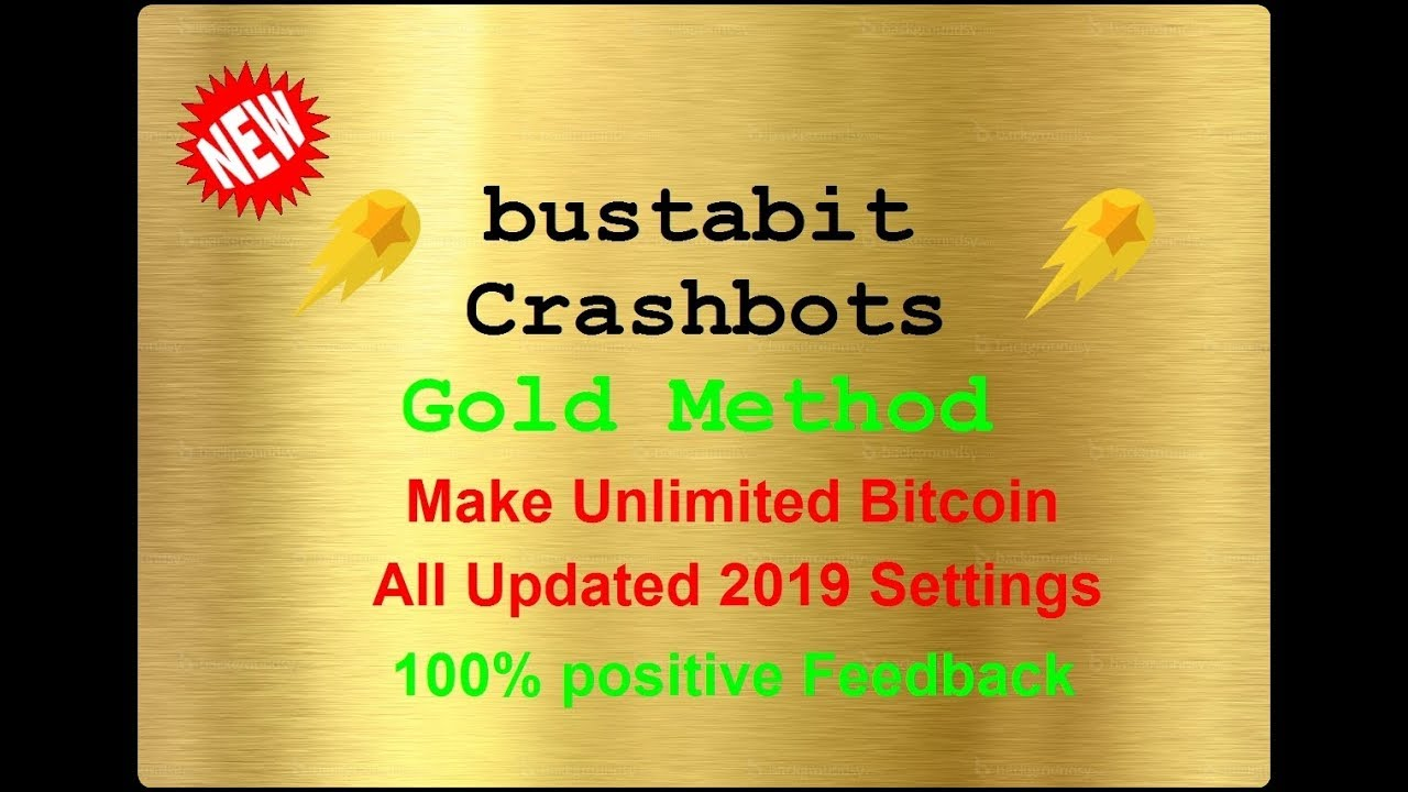 This is a method to earn unlimited bitcoin from crashbot sites
