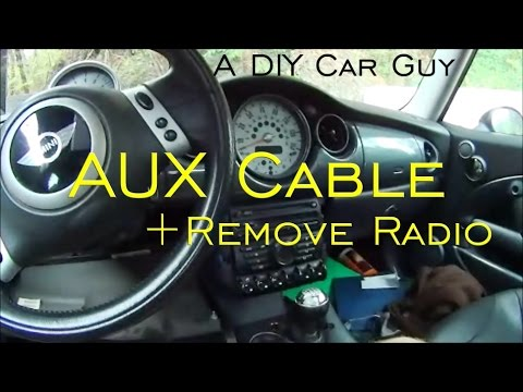 Install AUX Adapter in MINI Cooper + How to Remove Radio - 04 Cooper