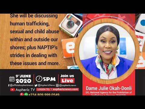 Download Live Interview with  DG (NAPTIP)  Dame. Julie Okah-Donli