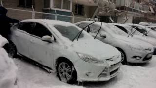 7 january 2017 Snow Istanbul Day time 7 ocak 2017 İstanbul kar yağışı part 2