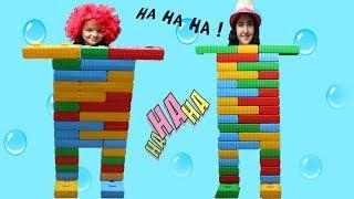 RENKLİ LEGOLARLA ROBOT OLDUM - My Sister Robot Joke fun kid video