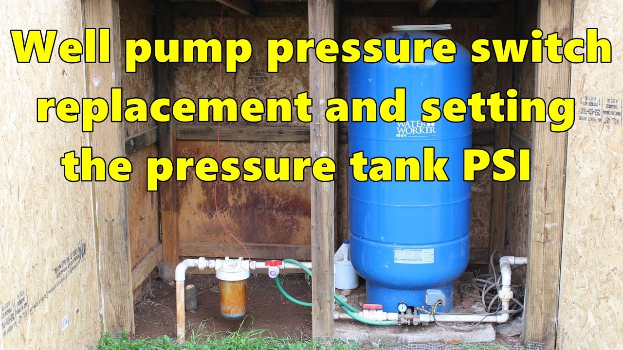 well pump pressure switch replacement and re pressurizing the pressure tank [ 1280 x 720 Pixel ]