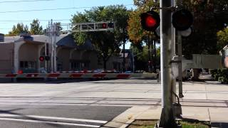 Sacramento Light Rail At Railroad Crossings 3