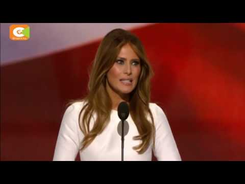 Melania Trump 'plagiarizes' part of Michelle Obama's address in 2008
