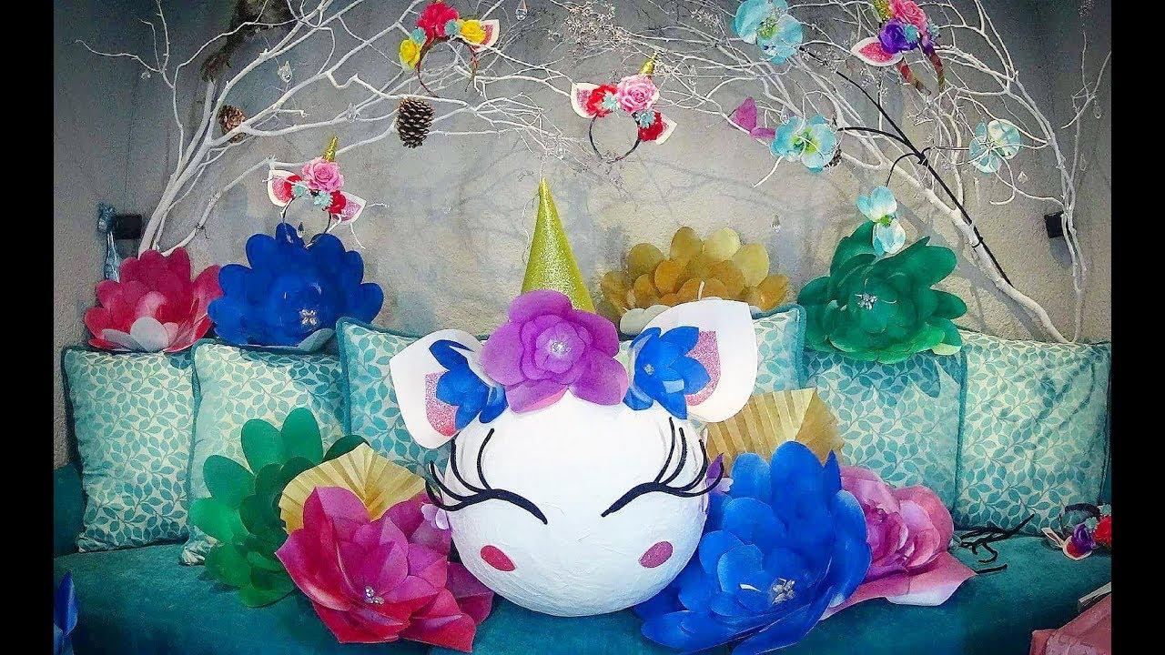 Como Hacer Piñata De Unicornio Diy
