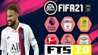 Download أخيرااا تحميل Fts 2020 بمود FIFA 2021 بجرافيك خيالي لأجهزة ضعيفة