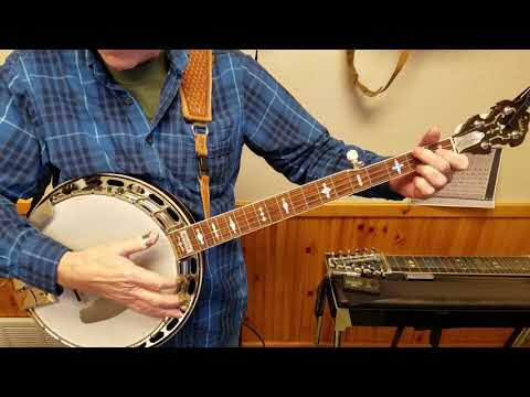 C Scale for the banjo with Chords