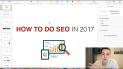 How To Do SEO For Website - SEO Tutorial 2017