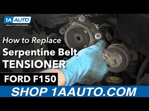 How To Replace Serpentine Belt Tensioner 97-04 Ford F150