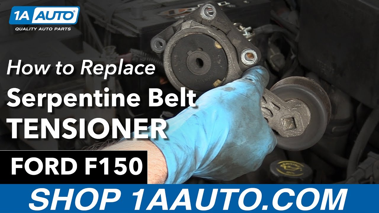 how to replace serpentine belt tensioner 97 04 ford f150 [ 1280 x 720 Pixel ]