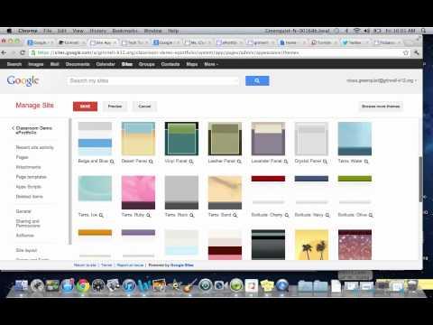 Basic ePortfolio using Google Sites