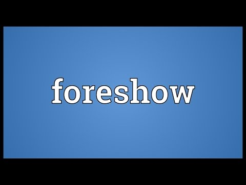 Header of foreshow