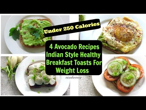 avocado-breakfast-toast---4-healthy-fat-burning-breakfast-ideas-for-weight-loss---avocado-recipes