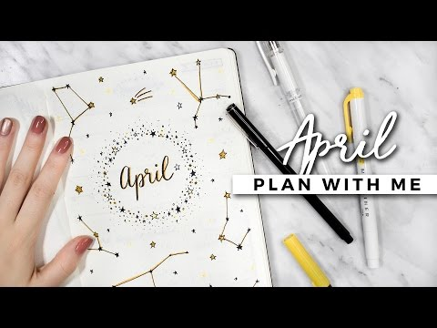 PLAN WITH ME | April 2017 Bullet Journal Setup