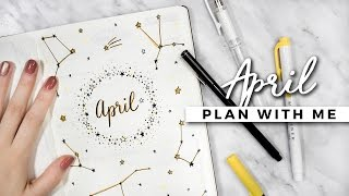 plan with me   april 2017 bullet journal setup