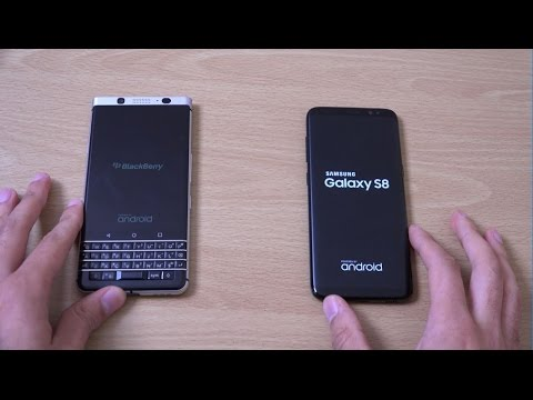 Blackberry KEYone vs Samsung Galaxy S8 - Speed Test!