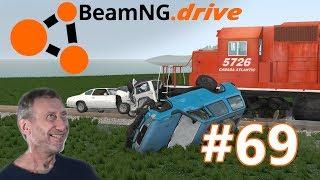 BeamNG.drive (#69) - ZDERZENIA POCIĄGÓW Z SAMOCHODAMI NA PRZEJAZDACH KOLEJOWYCH  cz.2