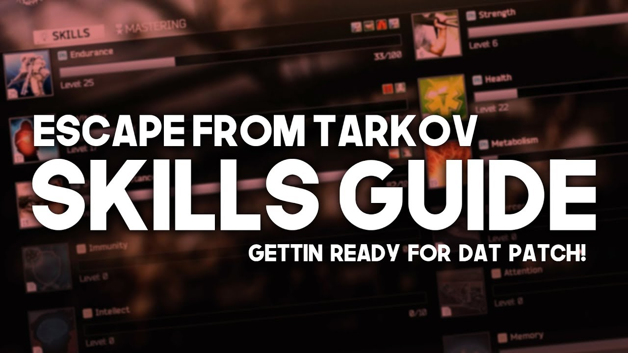 SKILLS GUIDE - Escape From Tarkov