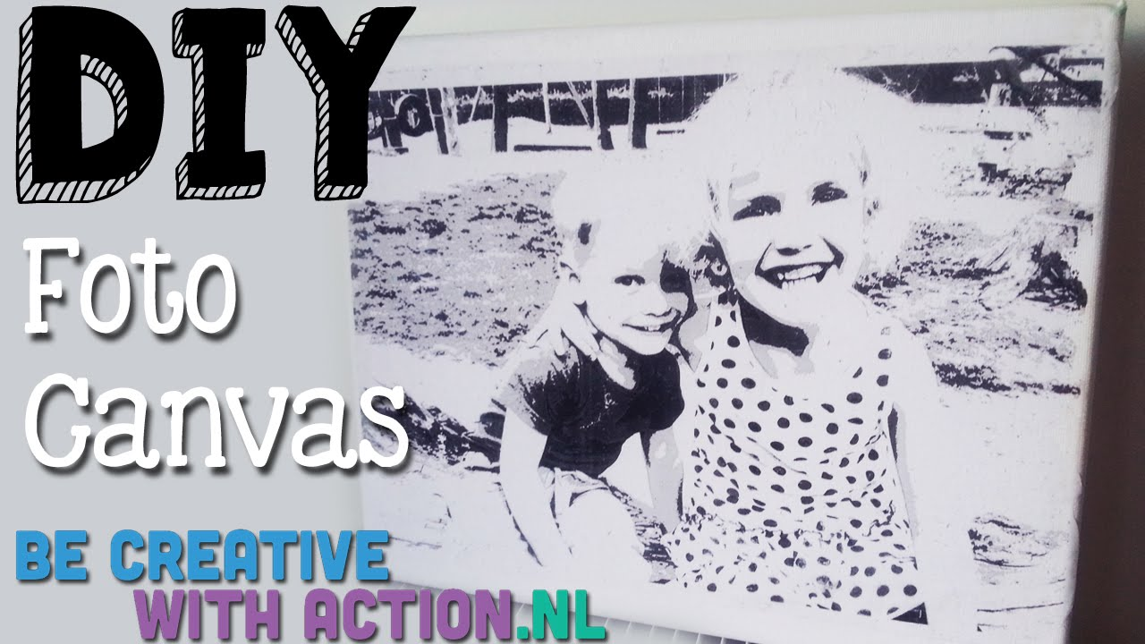 New DIY Foto Op Canvas Overbrengen | Transfer Photo - YouTube &NL16