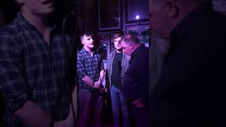 Father and Sons Perform Haunting Rendition of the Parting Glass in Irish Bar
