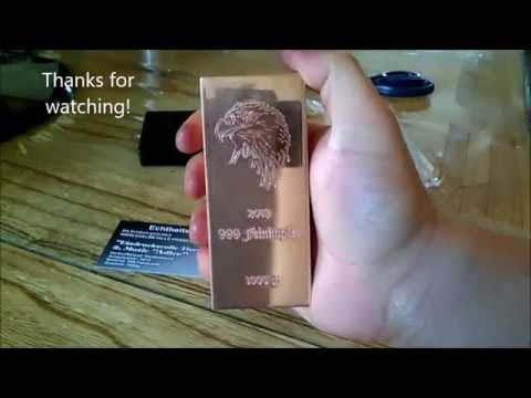 My new Copper Bullion Bar -A good little pick up from eBay