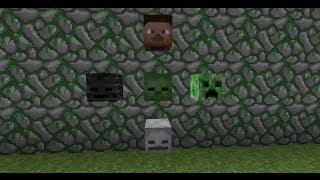 как добыть голову Моба в Minecraft (Зомби, Скелета, Крипера)