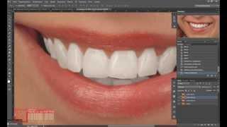 Корректируем зубы в Photoshop