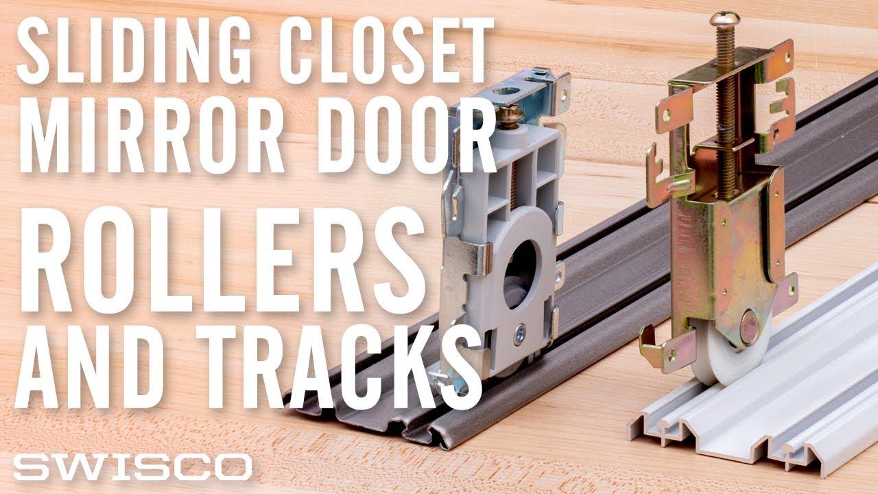 Sliding Closet Mirror Door Rollers Tracks Youtube