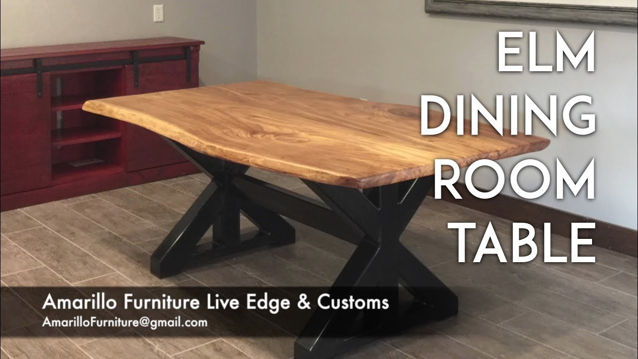 Elm Dining Room Table Live Edge Furniture Customs Youtube