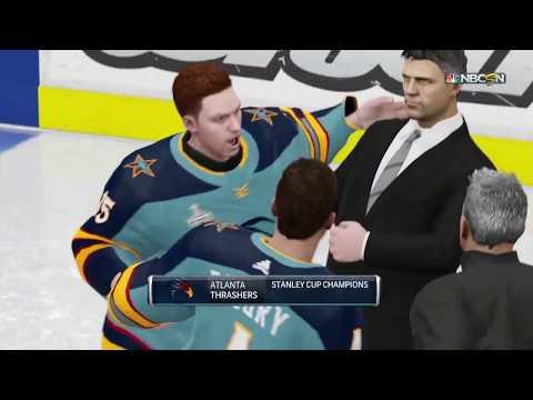 NHL 19 Atlanta Thrashers Stanley Cup Finals Celebration