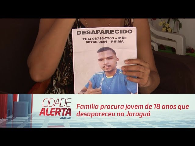 Família procura jovem de 18 anos que desapareceu no Jaraguá