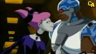 Teen Titans - Jinx flirts with Cyborg