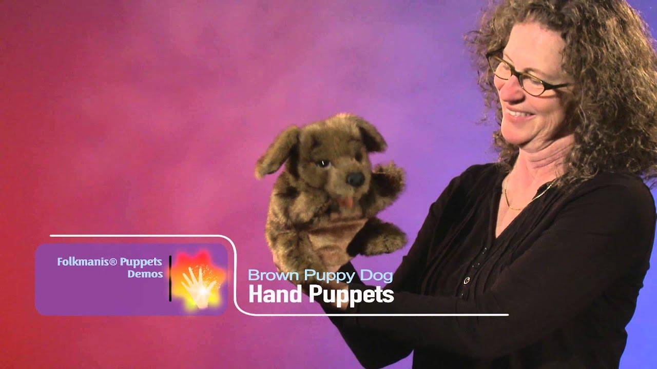 Folkmanis Brown Puppy Dog Puppet