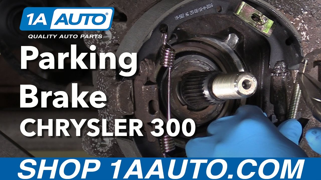 How To Install Replace E Brake Parking Brakes 2006 Chrysler 300 300c Engine Fuse Box Cover