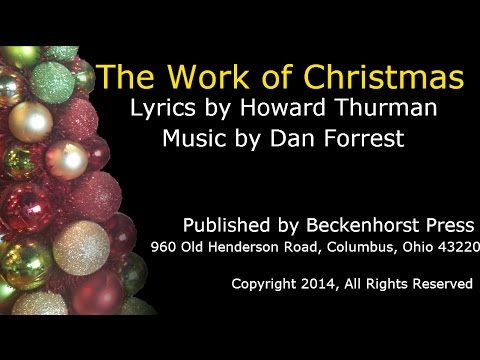 The Work Of Christmas By Dan Forrest Youtube