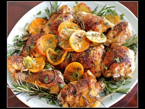 Easy Chicken Recipes — Herb and Citrus Oven Roasted Chicken Parts Recipe
